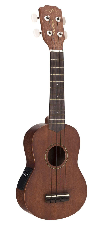Ukulele Vogga VUK309 Soprano Natural Mahogany – Elétrico Nylon