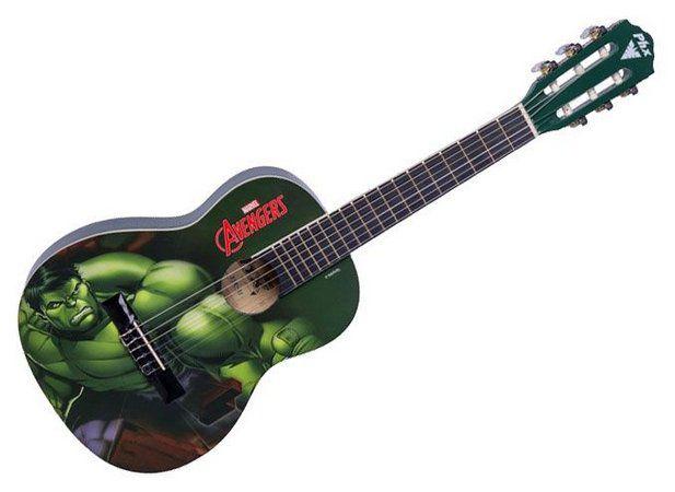 Violão Acústico Infantil Nylon PHX Marvel - Hulk