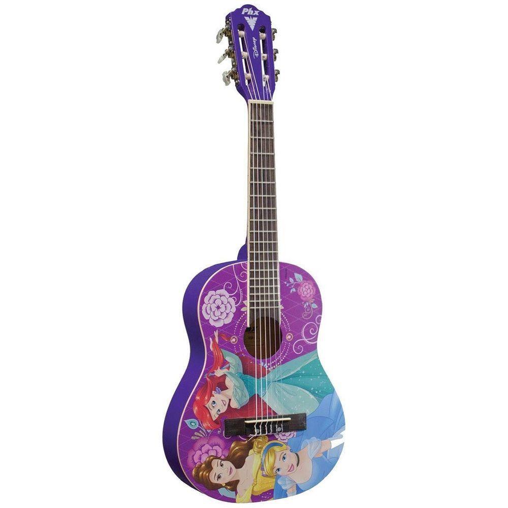 Violão Infantil Acústico PHX Princesas Disney VIP-4 Nylon