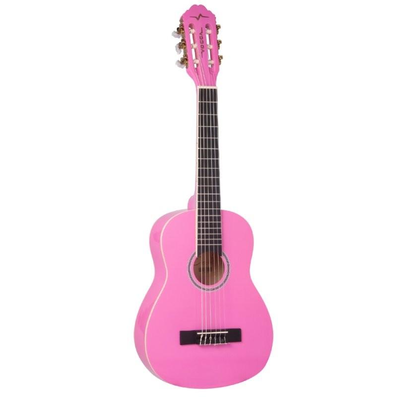 Violão Infantil Acústico Vogga VCA85 Pink Nylon