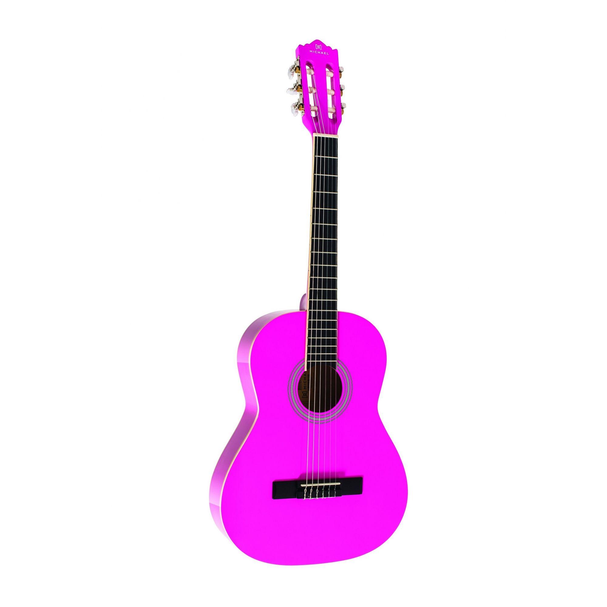 Violão Michael VM16E Rosa – Acústico Nylon 3/4