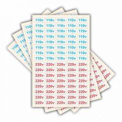 Adesivo Etiquetas De Voltagem Tomada 110v 220v