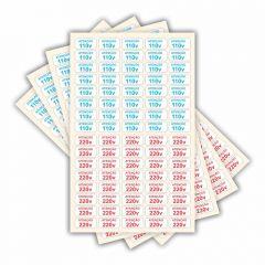Adesivo Etiquetas De Voltagem Tomada 110v 220v Atenção