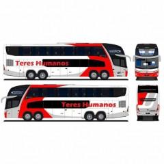 Ônibus Em Miniatura de Brinquedo Teres Humanos