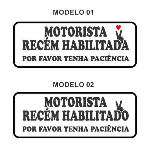 Adesivo Para Carro Motorista Recém Habilitado(a)