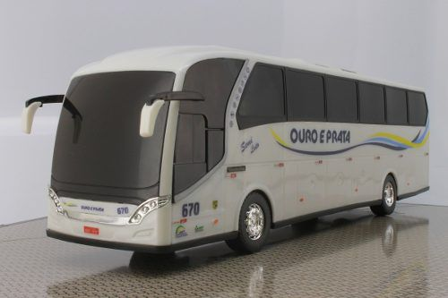 Ônibus Miniatura Ouro E Prata