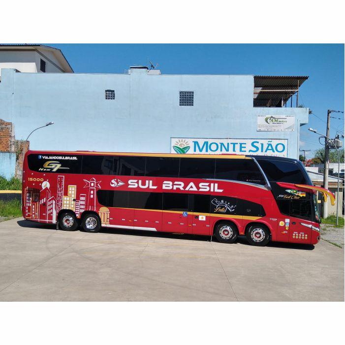 5 un. Ônibus em Miniatura Sul Brasil DD Personalizado
