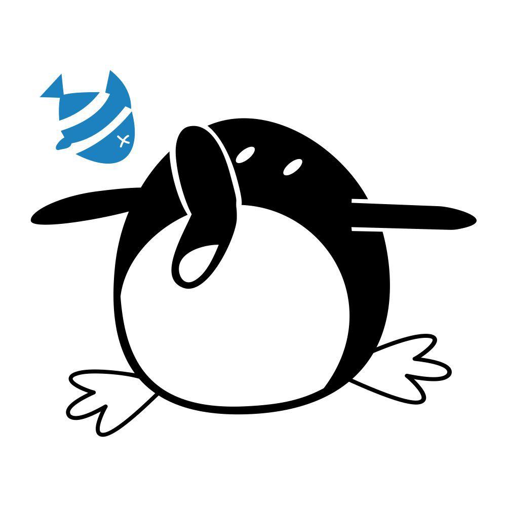Adesivo de Geladeira Pinguim com Fome