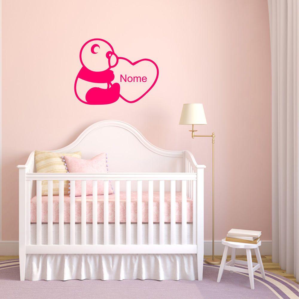 Adesivo de Parede Infantil Ursinho com Nome Personalizado