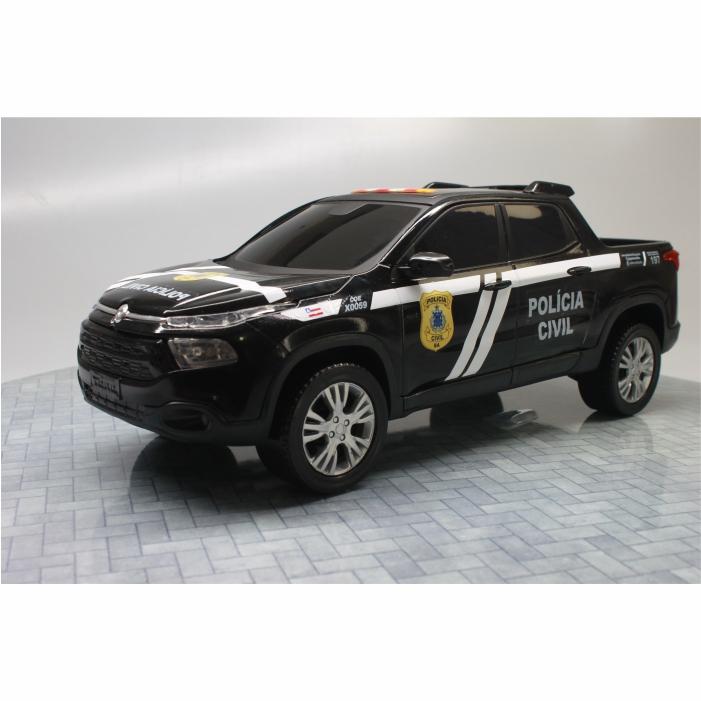 Fiat Toro Miniatura Viatura Polícia Civil Bahia