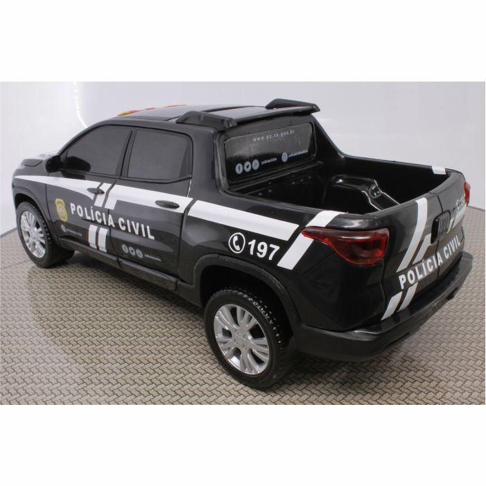 Fiat Toro Miniatura Viatura Polícia Civil Rio Grande Do Sul