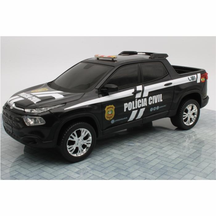 Fiat Toro Miniatura Viatura Polícia Civil Santa Catarina