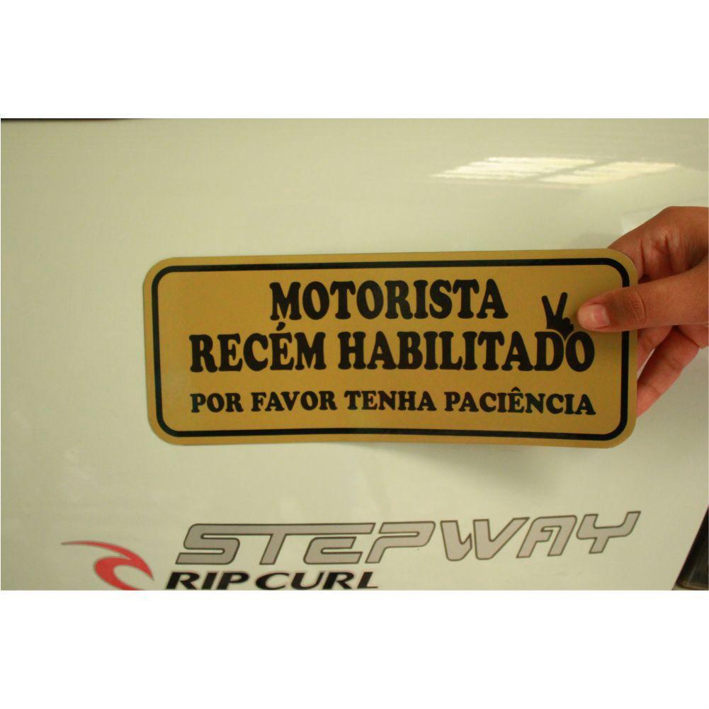 Imã De Carro Motorista Recém Habilitada/Habilitado