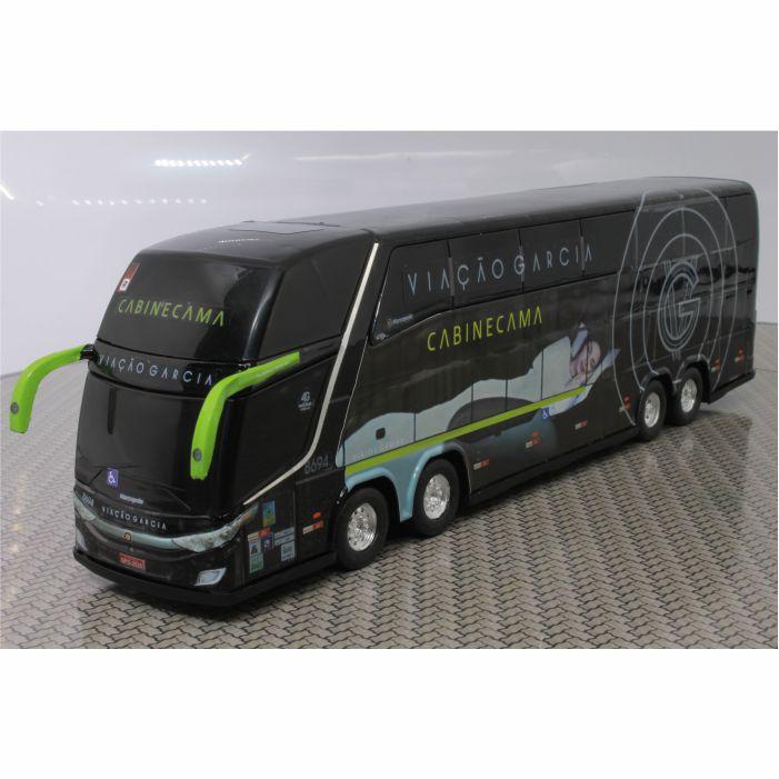 Miniatura De Ônibus Viação Garcia 1800 Dd G7