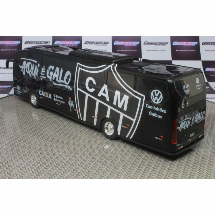 Ônibus em Miniatura de Brinquedo Clube Atlético Mineiro