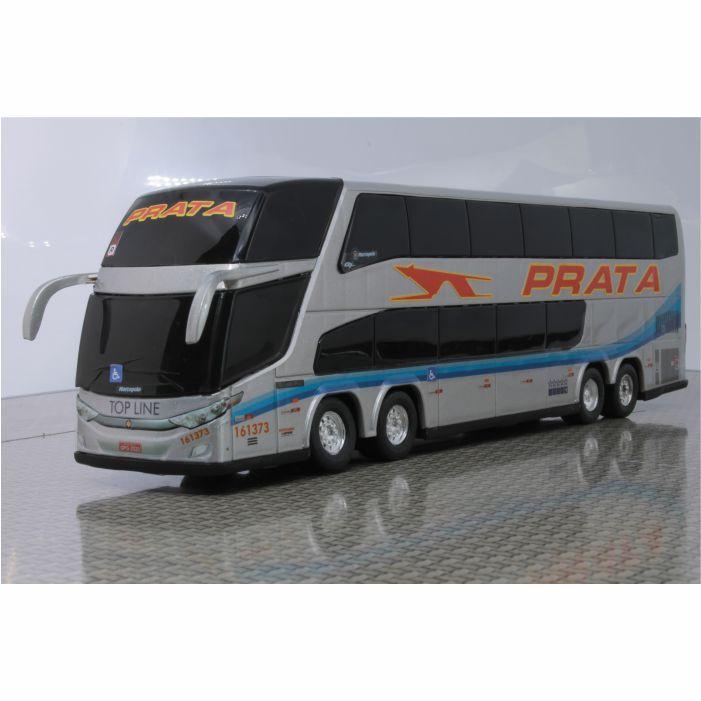 Ônibus Em Miniatura De Brinquedo Expresso de Prata 1800 Dd G7