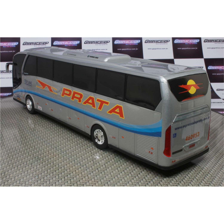 Ônibus Miniatura Expresso de Prata Neobus