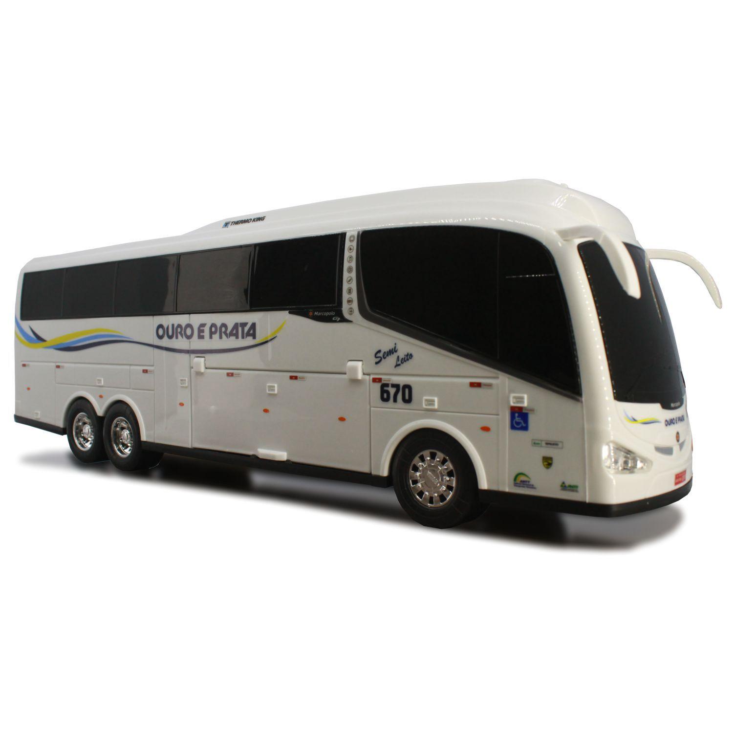 Ônibus Em Miniatura De Brinquedo Ouro E Prata