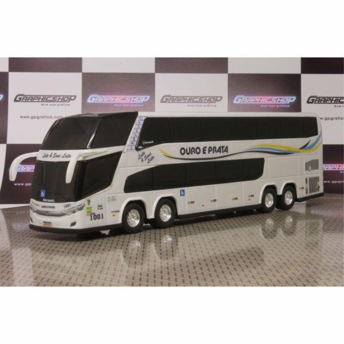 Ônibus Em Miniatura De Brinquedo Ouro e Prata 1800 Dd G7