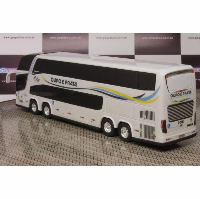 Ônibus Miniatura Ouro e Prata DD