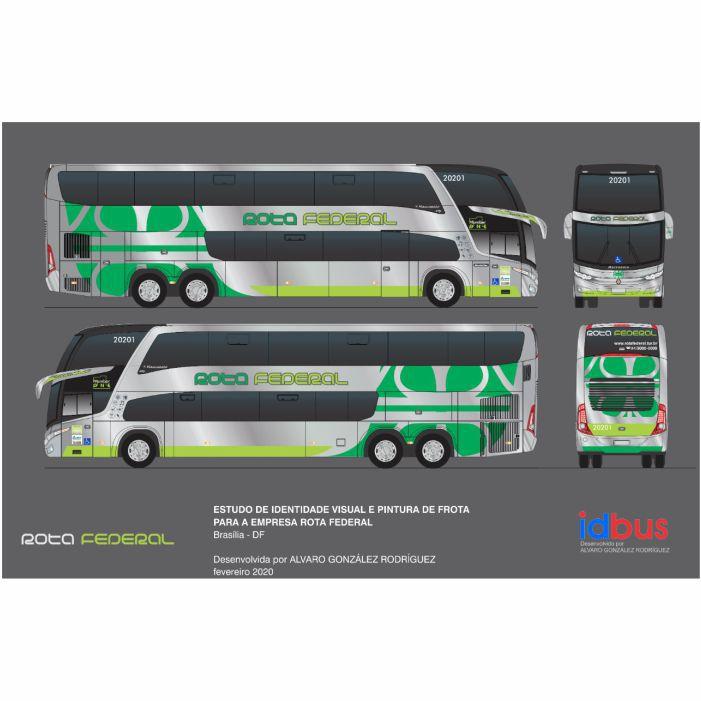 Ônibus Em Miniatura de Brinquedo Rota Federal