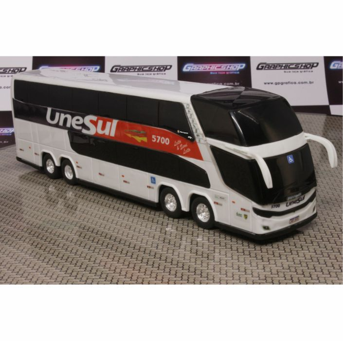 Ônibus Em Miniatura De Brinquedo Unesul 1800 Dd G7