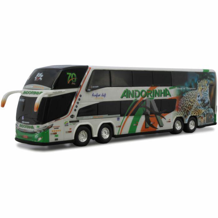 Ônibus Em Miniatura De Brinquedo Viação Andorinha 1800 Dd G7