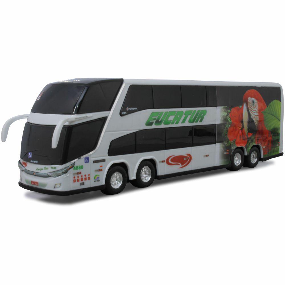 Ônibus Em Miniatura De Brinquedo Viação Eucatur 1800 Dd G7
