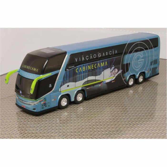 Ônibus Em Miniatura de Brinquedo Viação Garcia Cabine Leito 1800 Dd G7