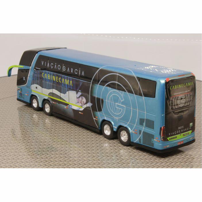 Ônibus Miniatura Viação Garcia Cabine cama DD