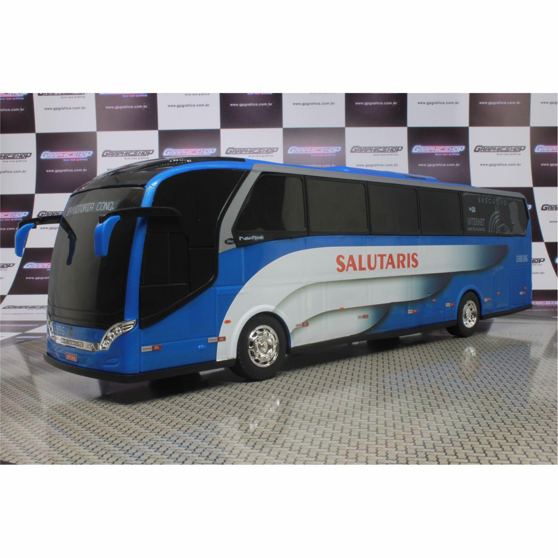 Ônibus Em Miniatura De Brinquedo Viação Salutaris