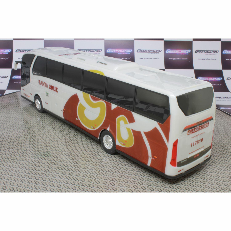 Ônibus Em Miniatura De Brinquedo Viação Santa Cruz