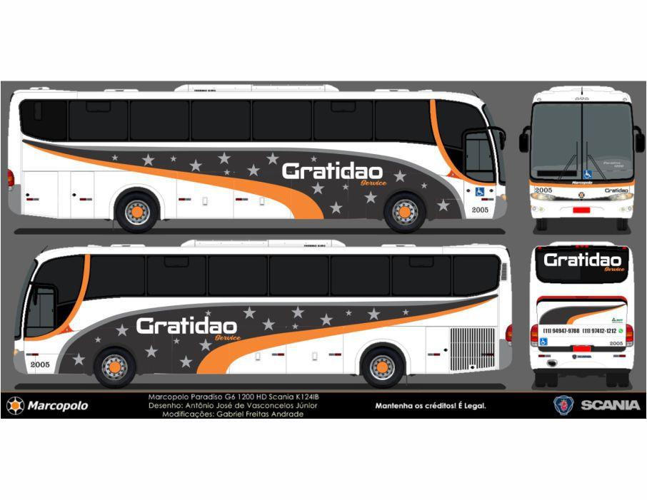 Ônibus Em Miniatura Gratidão Personalizado