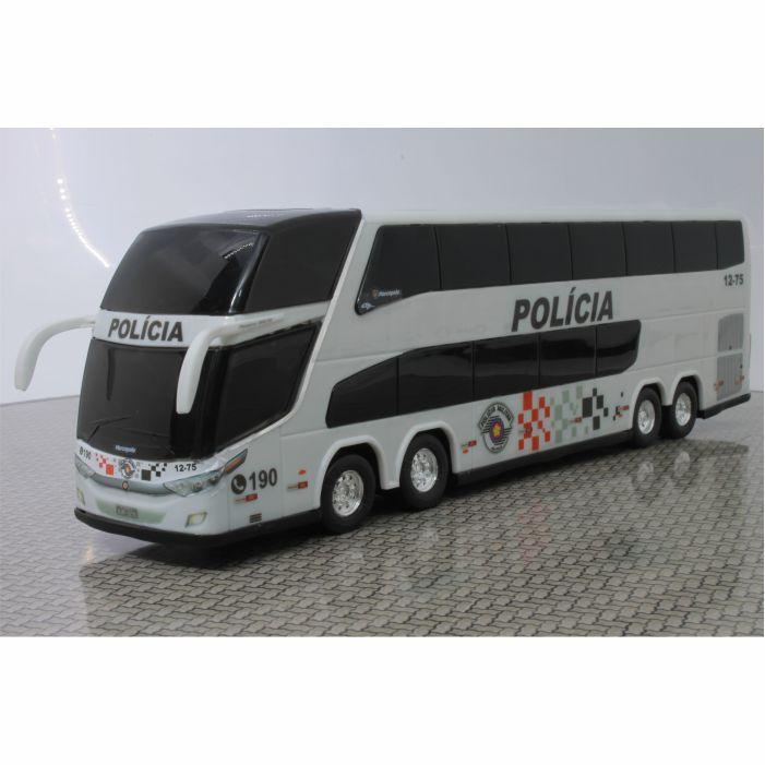 Ônibus Em Miniatura Polícia Militar De São Paulo 1800 Dd G7