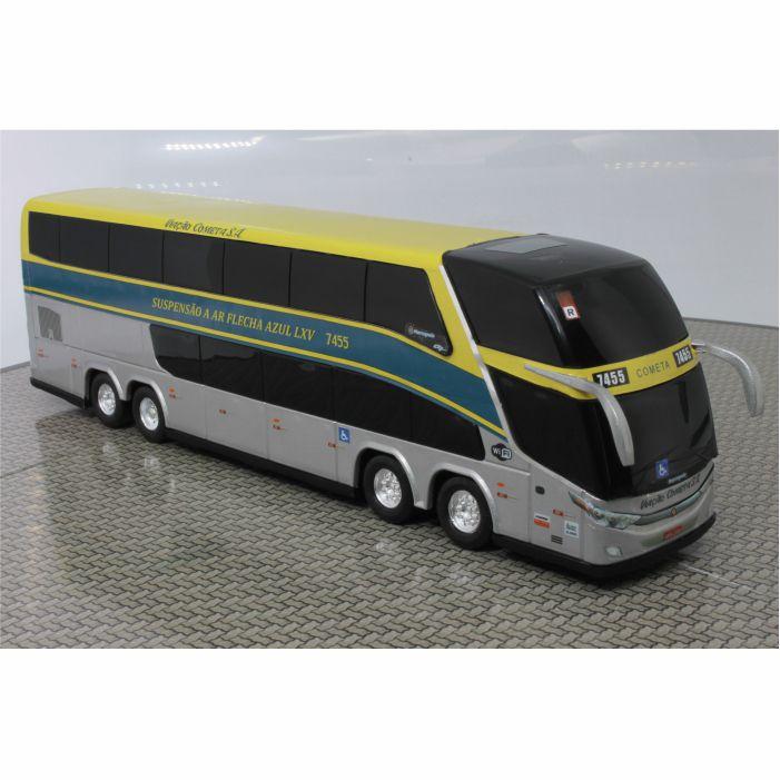 Ônibus Miniatura Viação Cometa Flecha Azul Clássico Dd G7