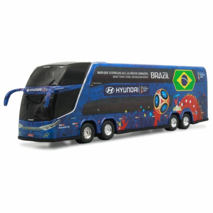 Ônibus Miniatura Copa Do Mundo Rússia 2018 DD