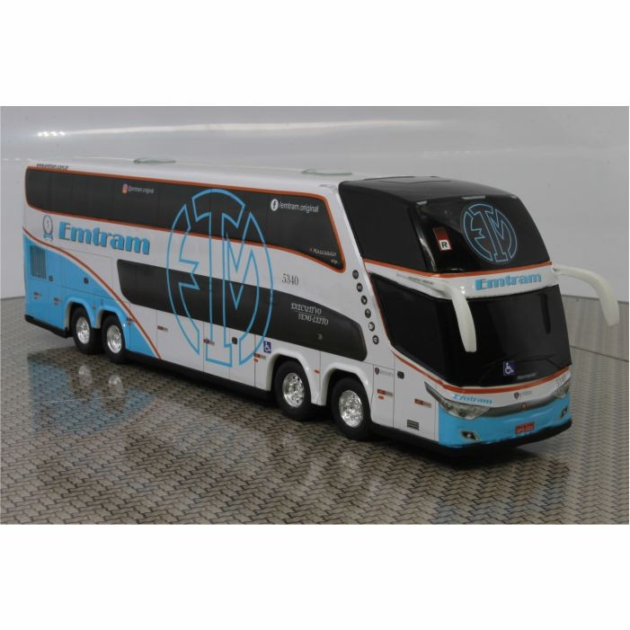 Ônibus Miniatura Emtram Dd 4 Eixos