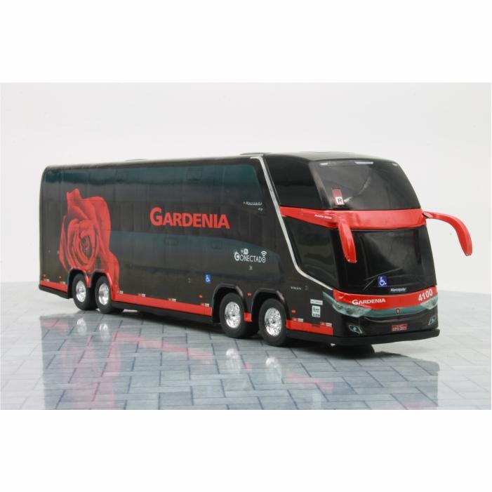 Ônibus Miniatura Expresso Gardenia Novo Rosa Vinho DD