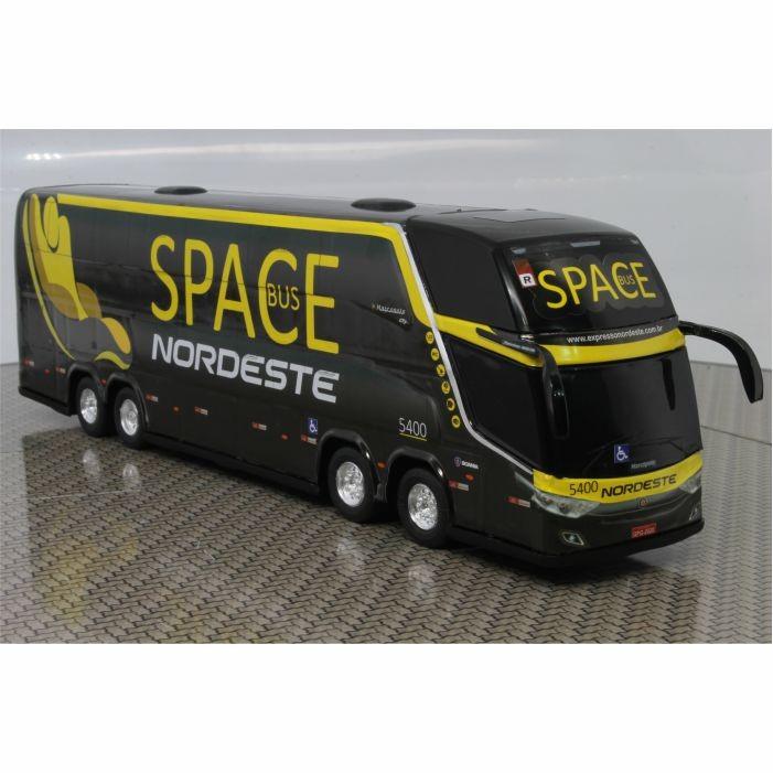 Ônibus Miniatura Expresso Nordeste Space Bus Dd 4 Eixos