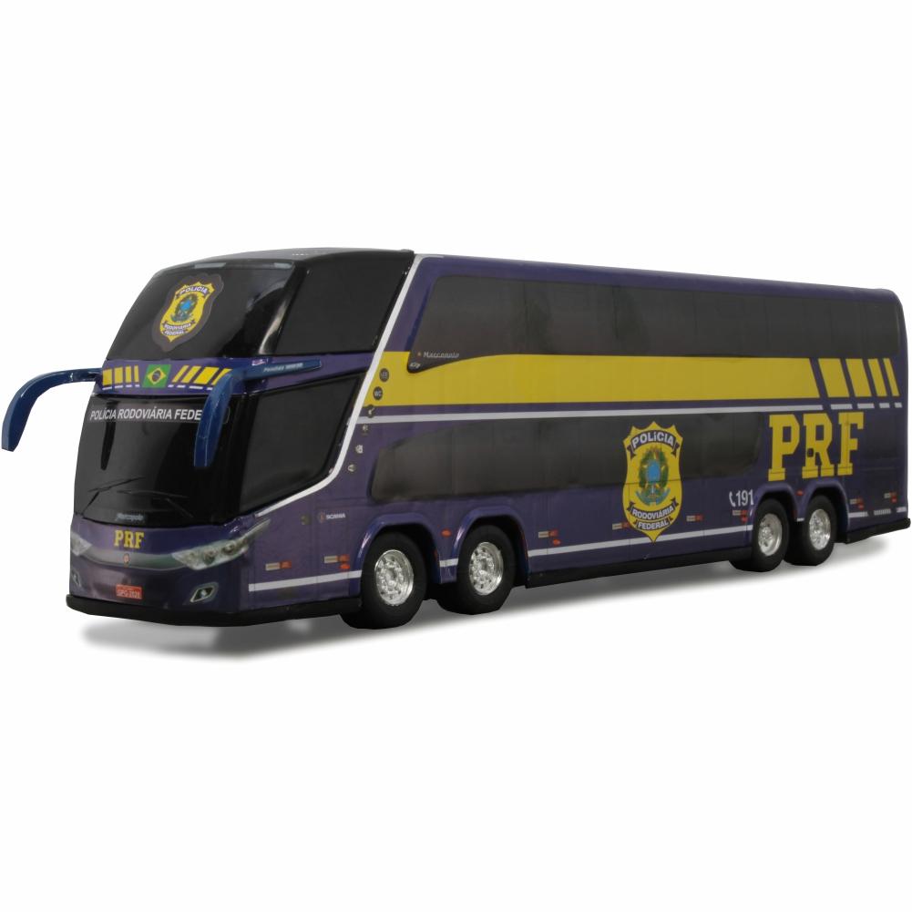 Ônibus Miniatura Polícia Rodoviária Federal PRF