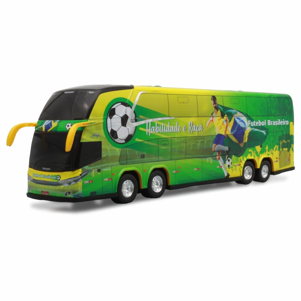 Ônibus Miniatura Seleção Brasileira País Do Futebol DD