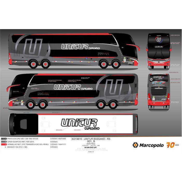 Ônibus Miniatura Unitur Turismo DD