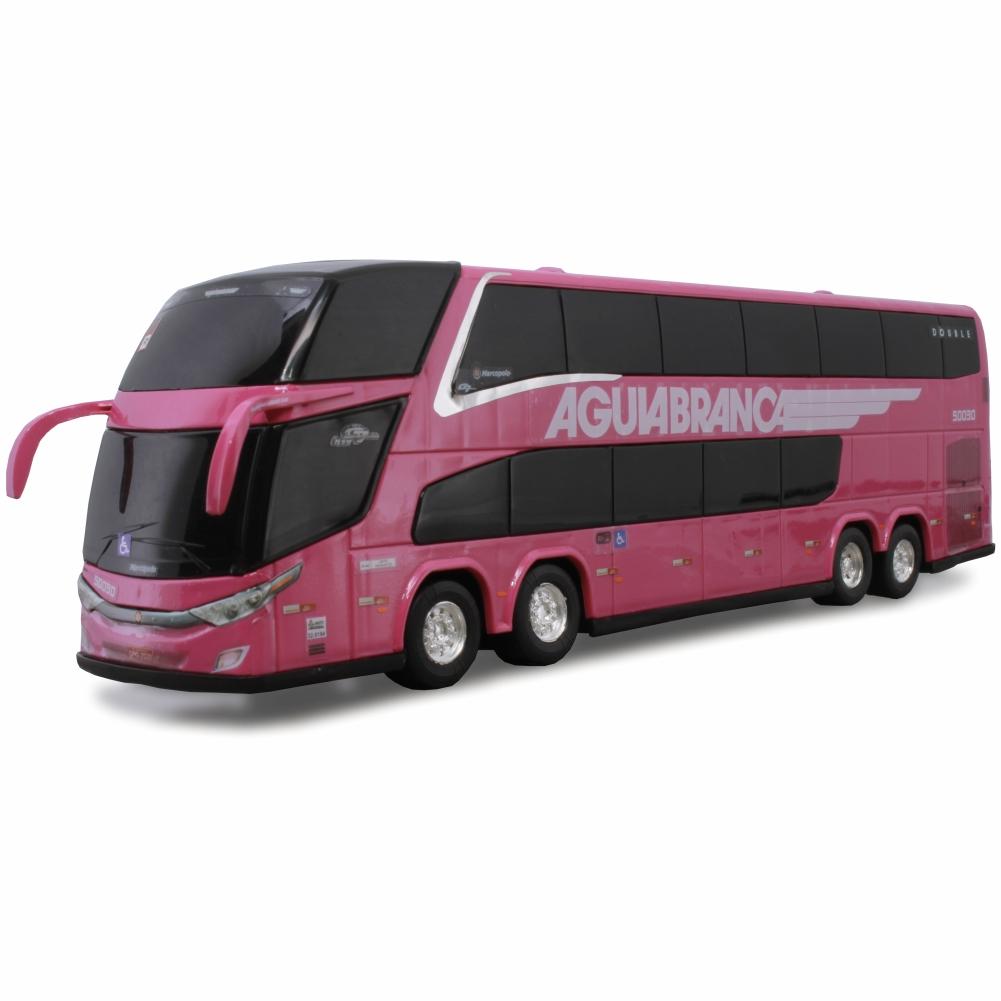 Ônibus Miniatura Viação Águia Branca New G7 DD Rosa