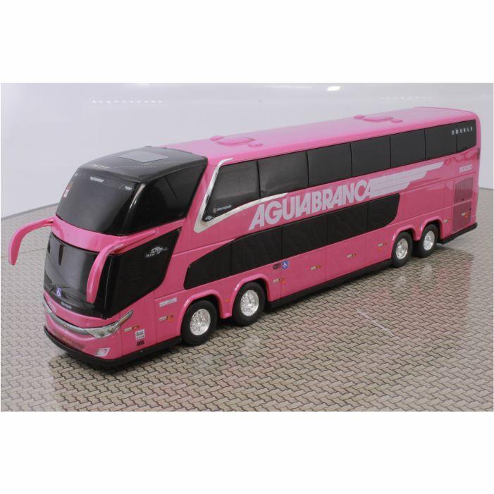 Ônibus Miniatura Viação Águia Branca DD Rosa