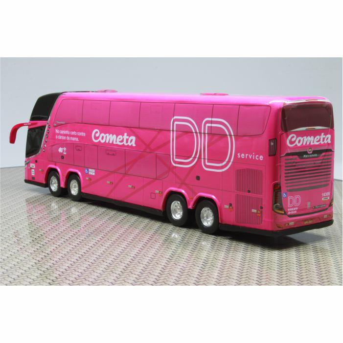 Ônibus Miniatura Viação Cometa DD Outubro Rosa