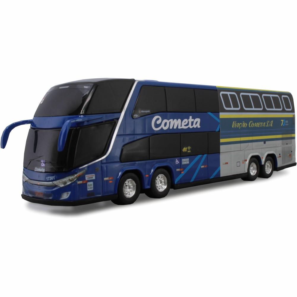Ônibus Miniatura Viação Cometa GTV DD 70 Anos