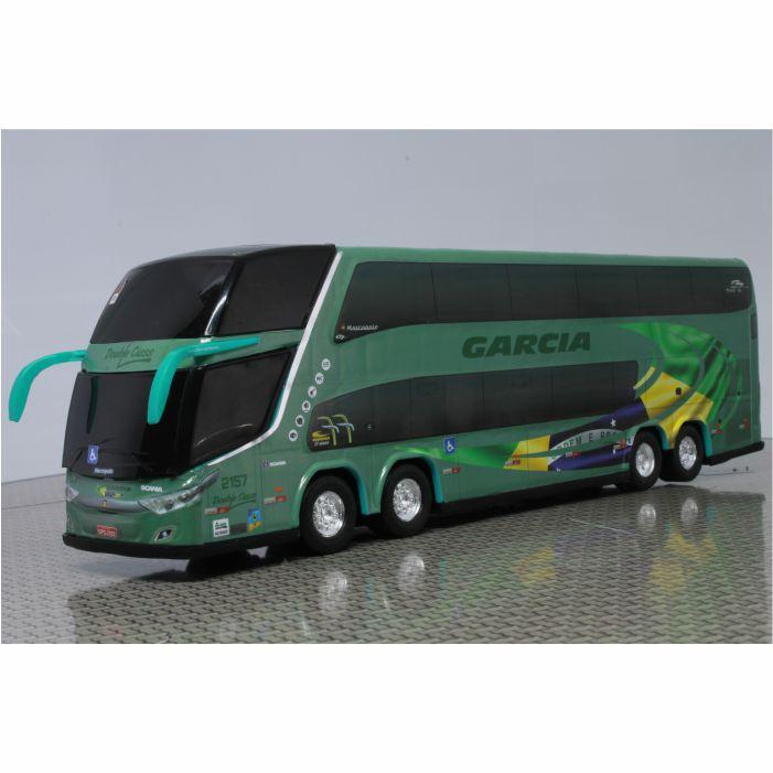 Ônibus Miniatura Viação Garcia DD Bandeira do Brasil