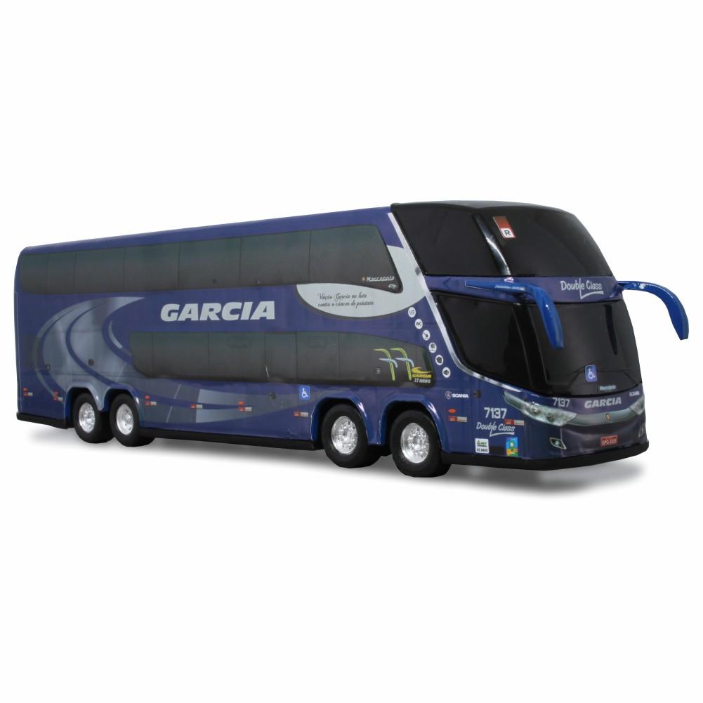 Ônibus Miniatura Viação Garcia DD Novembro Azul