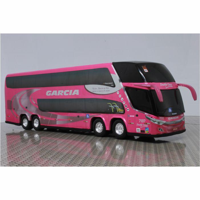 Ônibus Miniatura Viação Garcia DD Outubro Rosa