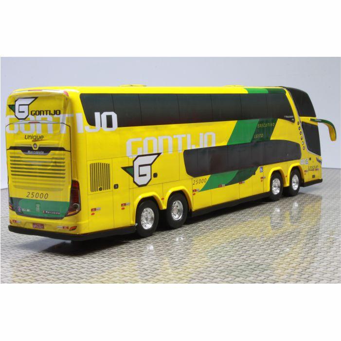 Ônibus Miniatura Viação Gontijo Executivo Leito DD 4 eixos